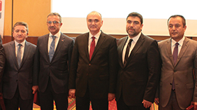 Minister Faruk Özlü attends the panel held by RoyalCert